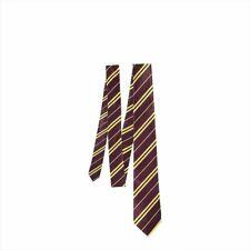 Maroon and Yellow Stripe Harry Potter Gryffindor Tie Hogwart World Book Week Day