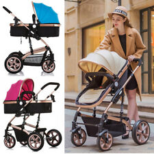New Foldable Baby Stroller Pram Travel Pushchair with Explosion-proof Rear Wheel
