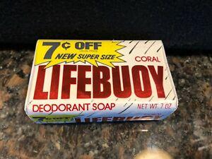 Vintage Lifebuoy Soap Bar Coral 7 oz. Prop