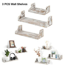 Nex Floating Shelves Wall Mounted Rustic Wood Wall Shelves - 3 Pack Incanus Home