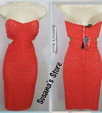 NWT bebe Natasha Lace Midi cutout Dress SIZE XXS SEXY DRESS  lace MSRP$100