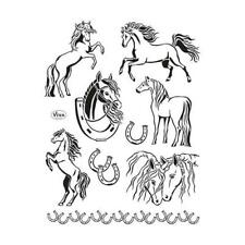 Viva Decor A5 Clear Silicone Stamps Set - Horses #139
