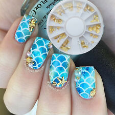 3D Nail Art Studs Sea Snail Coconut Tree Charms Crafts Manicure Decoration Tips