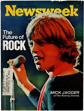 1/4/71 Orig Newsweek Magazine Cover (Only) W/ Mick Jagger Of The Rolling Stones