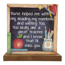 You've Helped Me With My Reading Teachers Word Block Thank you Christmas Gift