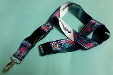 Malaysia Airlines Blue Green Lanyard Batik Steward Stewardess New Series