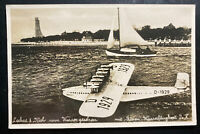 1932 Laboe Germany RPPC Postcard Cover Do X Seaplane Type At Sea