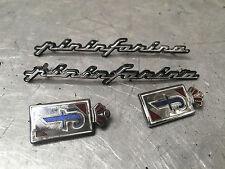 Peugeot 406 COUPE PININFARINA PININ FARINA LOGO SHIELD AND TEXT BADGE SET BADGES