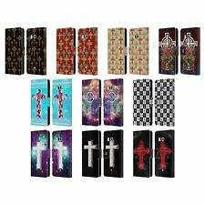 HEAD CASE DESIGNS CROSS PRINTS LEATHER BOOK WALLET CASE COVER FOR HTC PHONES 1