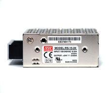 1x Switching Power Supply RS-15-24 24V 0.63A 15W AC100~240V 62x51x28mm Mean Well
