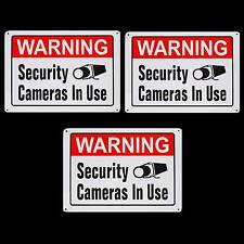 Metal Home Security Camera Surveillance Yard Fence Signs Lot