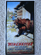 Winchester Advertising Poster,.401 auto-loading rifles,Bear in Cabin, Goodwin?