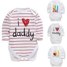 USA Newborn Toddler Baby Boy Girl Long sleeve Romper Jumpsuit Bodysuit Clothes