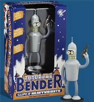 Futurama  Bender Die Cast Metal Grey Bender 5 inches Tall Super Heavy Weight