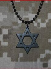 Gi Jewelry - Star of David Black Titan-kote Military Pendant Limited Edition