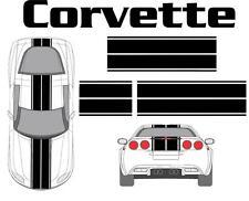 Chevy Corvette Dual Rally Racing Stripes Vinyl Decal Graphic Car Kit Sticker