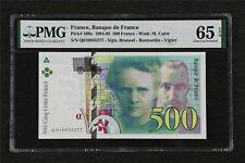 1994-95 France Banque de France 500 Francs Pick#160a PMG 65 EPQ Gem UNC