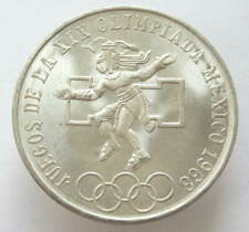 Mexico, 25 Peso, 1968, Summer Olympic games, Silver 720, UNC, Original