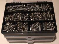 M5 M6 KIT ASSORTITI BOX 1025 PZ Brass fessurata Pan Testa Viti Metriche M3 M4