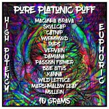 Pure Platonic Puff [10 Grams] Herbal High Smoke Mix | With Potent Maconha Brava