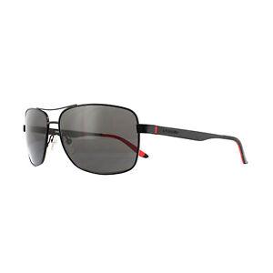 Carrera Rectangular Matte Black/Polarized Gray 61mm Sunglasses CA8014S 3 61/14