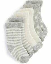 NWT Baby Gap girls 4pk socks;1 white;1 gray w//dots;1 navy w//dots;1 orange; 6-12m