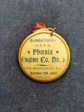 1902 October 7th N.B.F.D. Phoenix New Brunswick,N.J.Fire Dept Biennial Parade