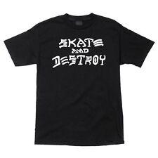 Thrasher SKATE AND DESTROY Skateboard Shirt BLACK XL