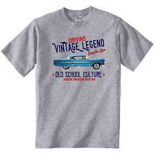 VINTAGE AMERICAN CAR CHEVROLET IMPALA 1958 - NEW COTTON T-SHIRT