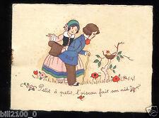 petit agenda et calendrier 1938 . Galerie des Pafums à Nice . coiffeur . 1938