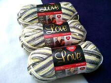 NEW Red Heart with Love Yarn 3 - 5oz Skeins Same Dye Lot LEMON DROP