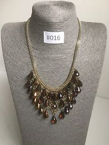 #016 Modern Statement Chain Pearl Cluster Necklace Gold Beaded Tassle Jewellery