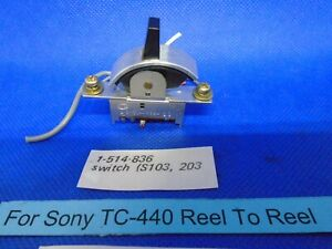 For Sony TC-440 Switch 12 Pin Monitor Tape/Source (S103 Or S203) 1-514-836) Used