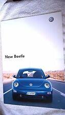 Volkswagen VW New Beetle Italian Sales  Brochure Dated 2003 Good Condition