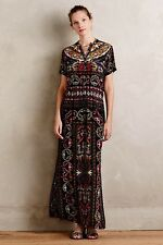 NEW Anthropologie Aasha Maxi Dress Sz M 8 10 Medium Black Hermant And Nandita