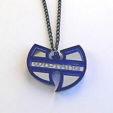 Wu Tang Clan fan necklace Laser cut mirror blue acrylic
