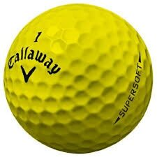 50 Callaway Supersoft Yellow AAA Used Golf Balls
