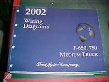 2002 FORD F-650, F-750 MEDIUM TRUCK WIRING DIAGRAMS MANUAL mint condition