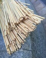 50pcs Nature Bamboo Stake Garden Support Stick 40cm Dia4mm DIY Craft Smooth