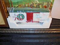 LIONEL 1989 CHRISTMAS BOX CAR 8-87006 MIB G SCALE