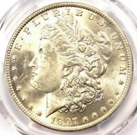 1897-O Morgan Silver Dollar $1 - PCGS Uncirculated Detail - Rare Date in UNC/MS!