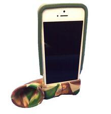 Loud Apple iPhone 5/5s/SE Party Horn Amplifier Dock w/case Green/Camo Clearance