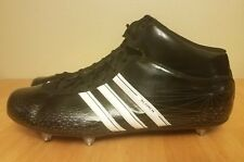 Adidas Football Cleats Scorch Mid Shoes (black/white) New - Men's US size 18