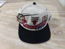 Vintage Chicago Bulls 1996 NBA Finals Champions Snapback Hat Logo Athletic Rare