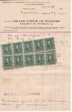 1907 ANTIQUE Benjamin Franklin  25? one 1 CENT STAMPS on dated letter unused