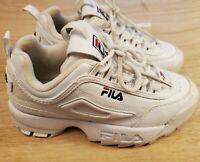 FILA DISRUPTOR II White Shoes Sneakers FW01655-111 Size 4