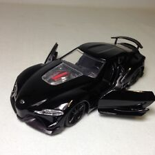 "TOYOTA FT-1 CONCEPT JDM Tuners 5.5"" METALS DieCast PULL BACK 1:32 Jada Toy Black"