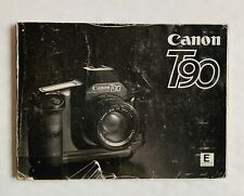 Canon T90 Camera Instruction Booklet