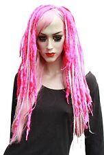 Laine Dread Cheveux Falls rose extensions de cheveux Pastel Goth Cyber Dark Merino