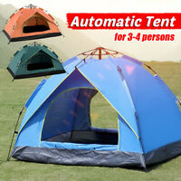 Automatic Camping Tent 3-4 Persons Quick Open Waterproof Hiking Beach Outdoor